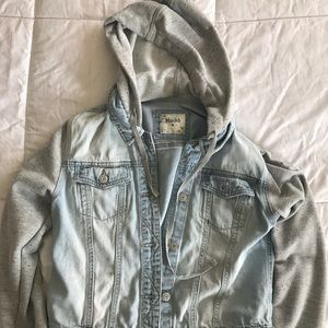 Jean Hooded Jacket with Grey Sleeves
